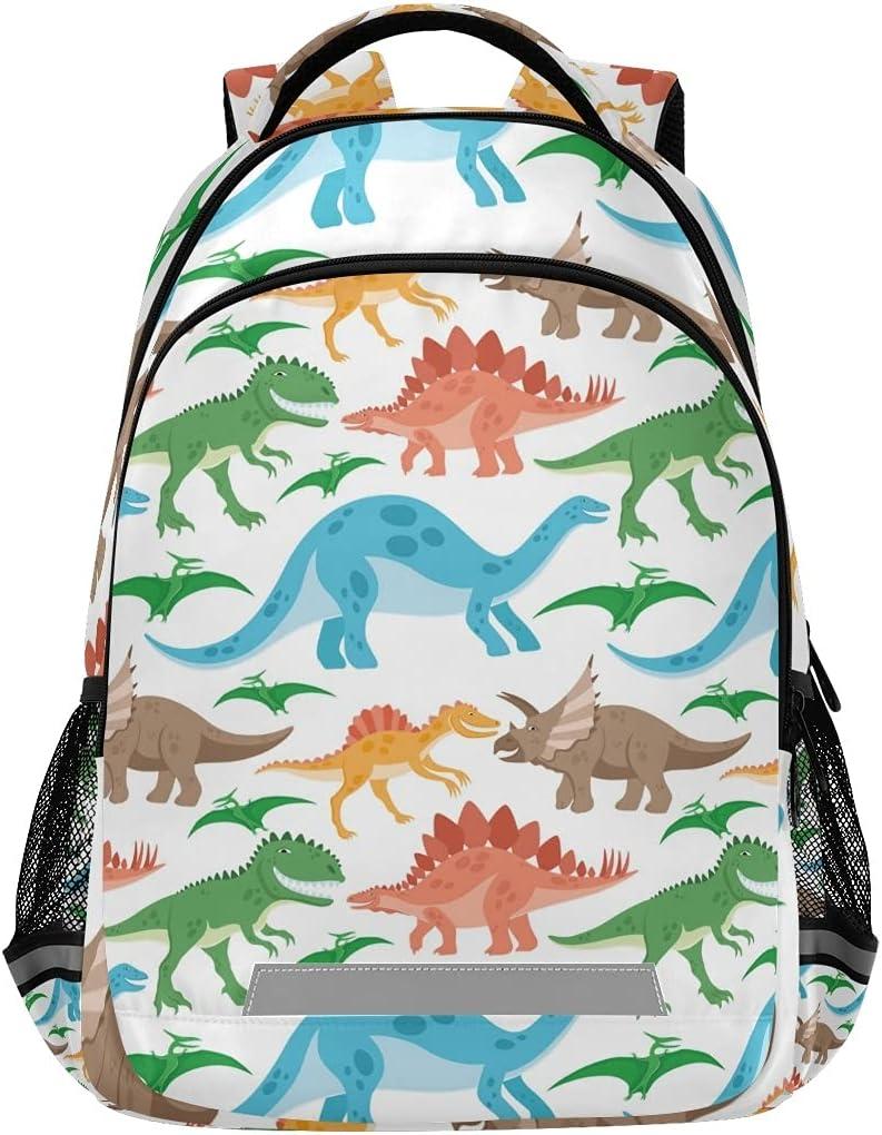 ALAZA Dinosaur Book Bag Schoolbag Girls Midd for Max 78% OFF Boys Elementary Max 81% OFF