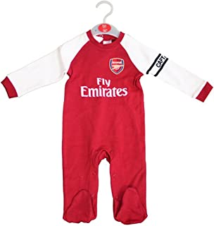 da073989 Arsenal FC Official Football Gift Home Kit Baby Sleepsuit