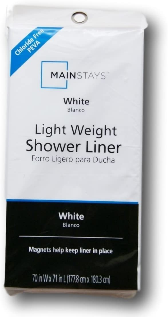 Mainstay Light A surprise price is realized Weight PEVA Shower Curtain Liner Whit 71 Same day shipping 70 - x
