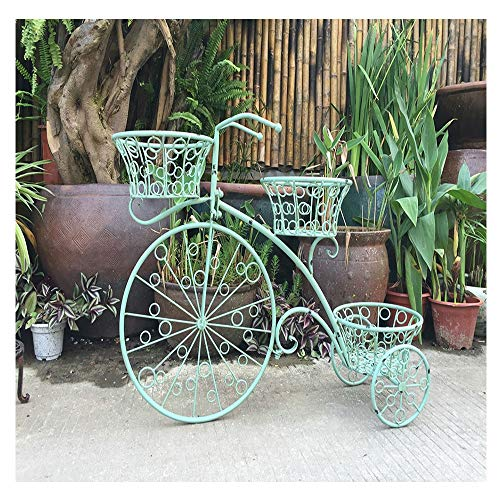 Garden smeedijzer Bicycle Flower Rack Thuis Raamdecoratie display Metal Crafts ingemaakte Creative Bicycle Flower Pot Bloemenstandaard-4.4