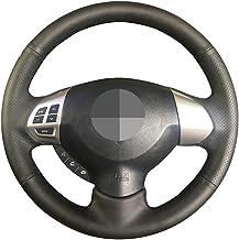 Unknow, funda para volante de coche de piel auténtica, color negro, para Mitsubishi Lancer X 10 2007-2015 Outlander 2006-2013 ASX 2010-2013 Colt