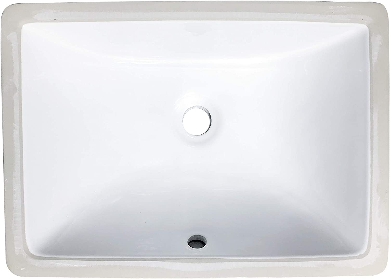 Buy Zeek Undermount Bathroom Sink 16x11 Small Rectangle Narrow Vanity Sink White Fits 18 Inch Vanity With Overflow 16 Inch By 11 Inch Opening Vitreous China Ceramic Online In Vietnam B0832bsvgg