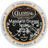 Celestial Seasonings Mandarin Orange Spice Herbal Tea K-Cup 48 K-Cups for Keurig Brewers