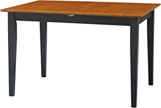 International Concepts Dining Table, Butterfly Extension with Shaker Style Leg, Black/Cherry