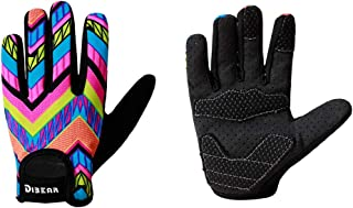 DIBEAR Kids Workout Gloves for Bicycles,Roller,Skating,Balance Cars and Outdoor Sports,Anti-Slip Silicone Can Fully Protect The Baby's Palm,Suitable for Boys and Girls 2-6 Years Old