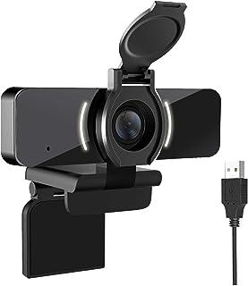 Cámara web 1080P con micrófono y cubierta de privacidad, cámara web USB, cámara web de transmisión HD para ordenador de so...