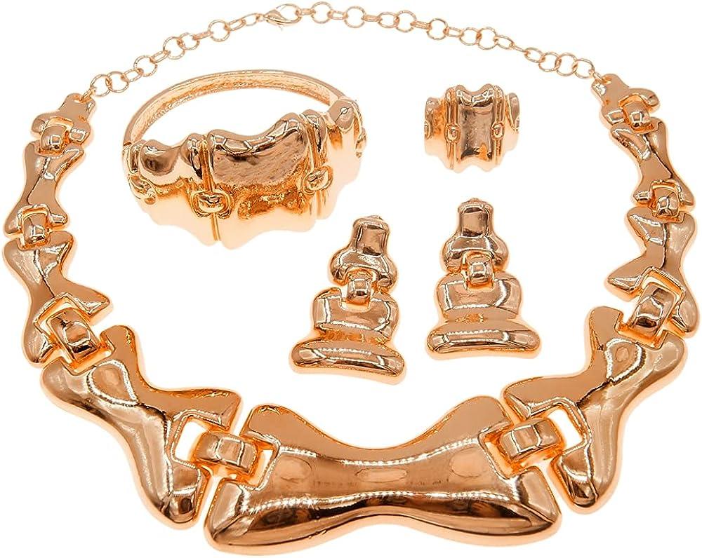 Yulaili Brazilian Sacramento Mall Italian Gold Design Set Arlington Mall Jewelry Beautifu Party