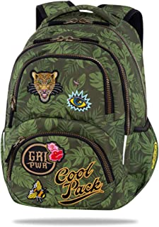 Mochila Parches Power Green Dart Coolpack