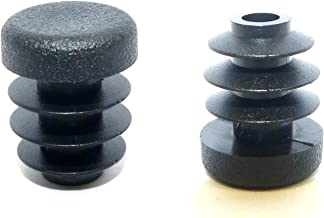 OGC (12 Pack) - 1/2 Inch OD Round Black for Plastic Plug by Cap Cover Tube Durable Chair Glide Insert Finishing Plugs