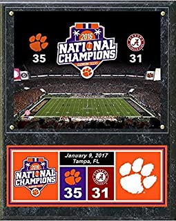 Clemson Tigers 2016 National Champions Field Plaque (Size: 15