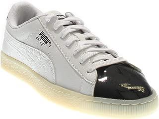PUMA Mens Basket Patent Casual Sneakers,