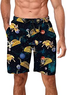 ac958c5d7d Enlifety Mens Swim Trunks 3D Print Quick Dry Beach Board Shorts with Mesh  Lining