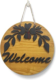 Art Street Welcome Wall Sign for Home Decoration, Welcome Sign for Door Wall Décor,Decorative MDF Plaque for Wall Decorati...