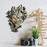Bashful Wood Sprite Tree Face Wall Sculpture - Mystic Wall Art Resin Sculpture, 10x6'' Mask Wall Statue, Resin Sculpture Looks Like Wood Suitable For Wall Hanging Indoors Or Outdoors (1pc)