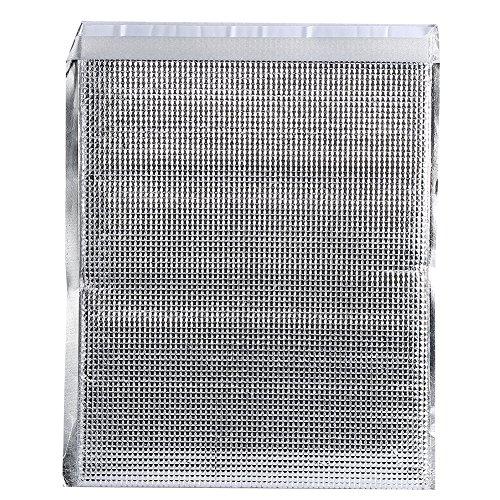 Dilwe 10 Sacs isolés, Poche Froide en Aluminium réutilisable pour Pique-Nique pour Camping en Plein air(25 * 30cm-Silver)