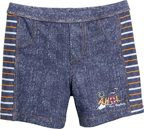 Playshoes Jungen UV-Schutz Short AHOI Badeshorts, Blau (Jeansblau 3), 74 (Herstellergröße: 74/80)