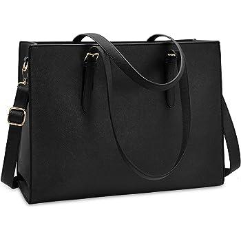 Executive Compu Briefcase Laptop Bag Case HIGH END W//Pocket Leather Trim Black