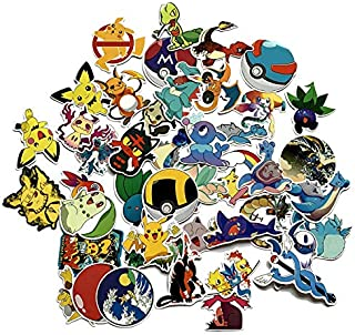 A Sticker Shop 45pcs Cartoon Anime Vinyl Stickers Show Creative DIY Stickers Funny Decorative Cartoon for Cartoon PC Luggage Computer Notebook Phone Home Wall Garden Window Snowboard