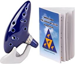 Deekec Zelda Ocarina 12 Hole Alto C with Song Book (Songs From the Legend of Zelda)