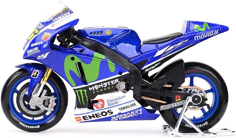saludable JIANPING Modelo de Juguete Juguete Juguete de Motocicleta 2015 Yamaha No. 46 súperficie de la Cocheretera Locomotora simulación aleación Modelo de la Motocicleta Regalo de la colección Auto Modelo  mejor oferta