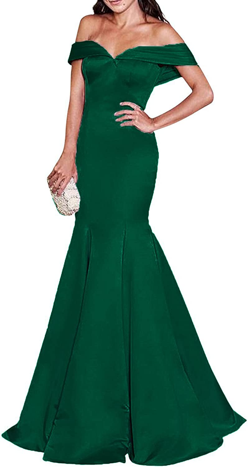 Vimans Women's Off Shoulder Mermaid Long Prom Dresses 2018 Party Formal Gown Dress5126