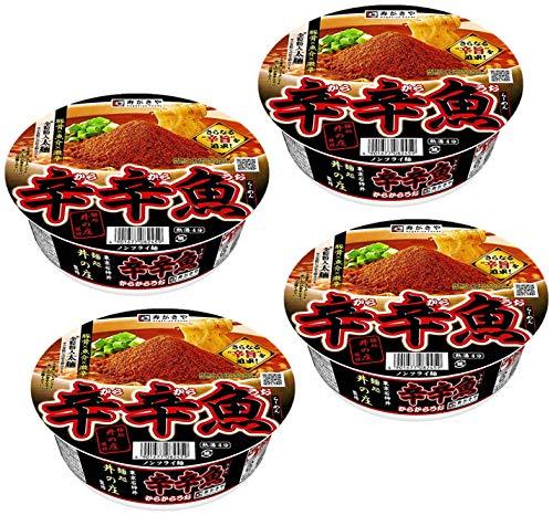寿がきや 麺処井の庄監修 辛辛魚らーめん 136gカップ 4食