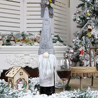 XMYIFOR Bottle Cover Dress Up Decoration Christmas Champagne Bottle Cover Dress Up Decoration Christmas Faceless Doll for Christmas Home Decor