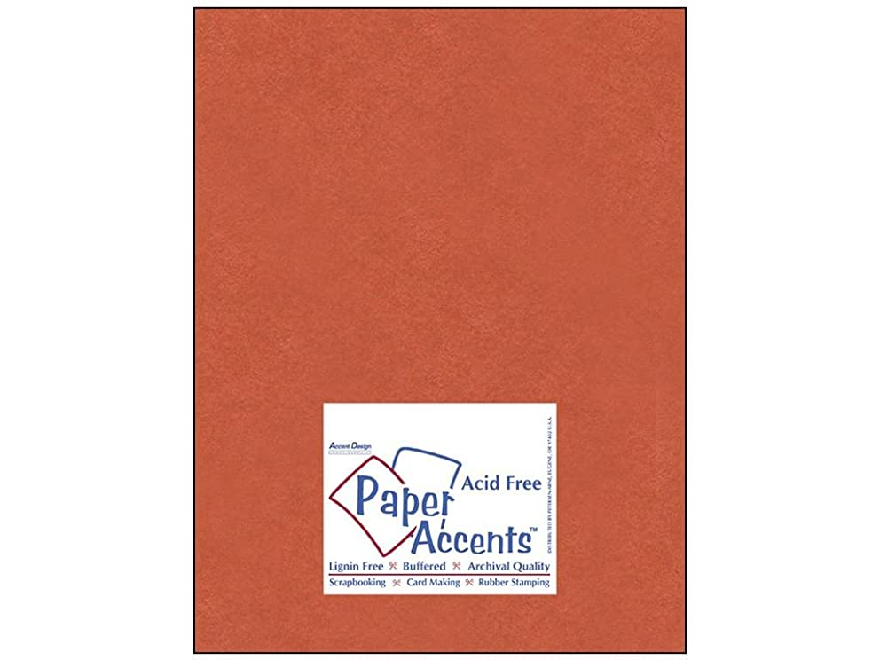 Accent Design Paper Accents ConstructionOrng Cdstk Muslin 8.5x11 74# Construction Orange