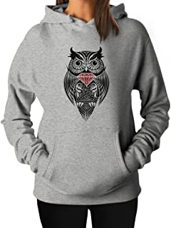 TeeStars Women's - Diamond Owl Hoodie