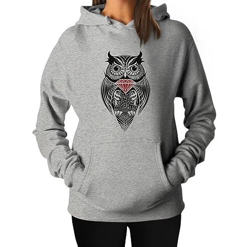 3a10d7d83512 TeeStars Women s - Diamond Owl Hoodie
