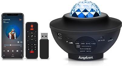 kungfuren Projektor gwiaździstego nieba z chmurą przeciwmgielną LED, projektor LED, wbudowany głośnik muzyczny, gwiaździst...
