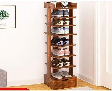 Shoe Rack 8 Tier Shoe Rack with Drawer Modern Shoe Cabinet Home Furniture Hallway Vertical Space-Saving Shoe Storage Organize