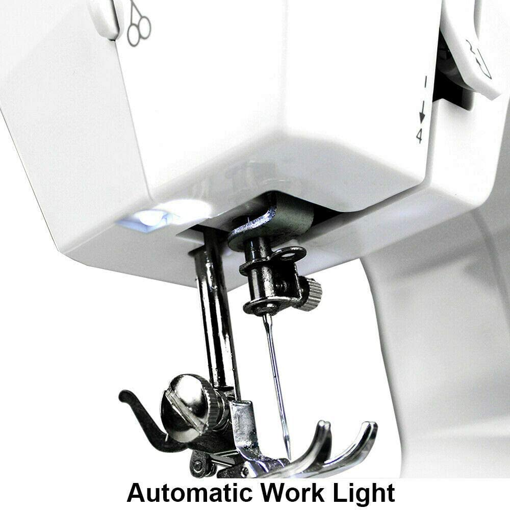 YOUKUKE Sewing Machine Electric Mini Multi-Function Handheld Sewing Machines Portable Sewing Machine with 12 Stiches and LED Sewing Light for Adults Beginners White/&Purpose