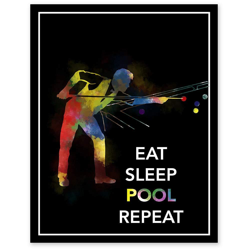 Eat New product Sleep Pool Repeat Tulsa Mall Watercolor Wall Print 11 14 x - P Unframed