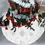 Falda de Árbol de Navidad, 48 Pulgadas Pie de Árbol de Navidad, Felpa Base de Árbol de Navidad para decoración de Interiores y Exteriores, Fiesta Decorativa