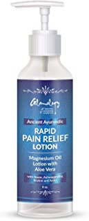 Rapid Pain Relief Magnesium Oil Lotion with Aloe Vera & Natural Herbs, Ultra-Pure Rapid Transdermal Absorption, Reduce Sleep Anxiety Migraine, Muscle Pain, Restless Legs Joint Pain & Anxiety