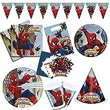 Procos 10108574 - Set de fiesta infantil, Ultimate Spiderman Web Warriors, decoración de mesa, set de mesa, fiesta de cumpleaños infantil, fiesta de barbacoa, fiesta temática