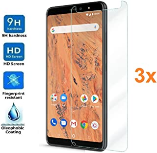 3X Screen Protector for BQ AQUARIS X2 - X2 PRO, Tempered Glass Film, Premium Quality, Perfect Protection for Scratches, Breaks, Moisture, [Pack 3X]