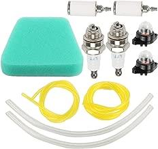 Coolwind 530037793 Air Filter + Gasket Fuel Line Pimer Bulb Gasket Turn Up Kit for Poulan 2150LE Predator 2155 2175 2350 2375 2375LE 2450 2550 2550LE 2550SE 262 PP210 PP260 PPB1838LE Snapper Chainsaw
