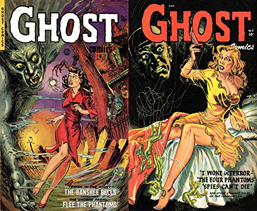 Ghost Comics. Issues 1 and 2. Includes the Banshee bells, Flee the phantoms, I woke in terror and spies can't die. Golden Age Digital Comics Paranormal. (English Edition)