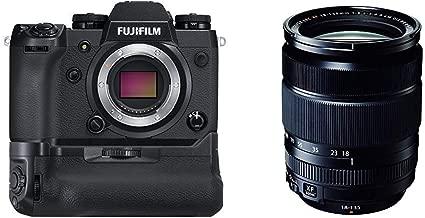 Fujifilm X-H1 Mirrorless Digital Camera w/Vertical Power Booster Grip Kit + Fujinon XF18-135mmF3.5-5.6 R LM OIS WR
