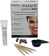 Godefroy Neu Augenbrauenfarbe Färbeset Instant Eyebrow Tint, braun, 1er Pack (1 x 4 Stück)