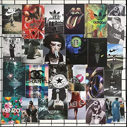 HXX 48 Stücke Europa Und Die Vereinigten Staaten Flut Marke Aufkleber Koffer Skateboard Gitarre Panel Laptop Koffer Dekorative Wand Wasserdichte Aufkleber