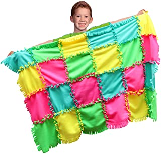 Woly Life Knot a Quilt Kit - No Sew and Cut Thick Fleece Blanket Kit - Ideal Gift for Kids Ages 6 and Up - DIY Blanket 5...