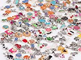 Miraclekoo 100 Pcs Floating Charms Assorted Mix DIY for Floating Lockets Glass Living Memory Lockets,Random Style