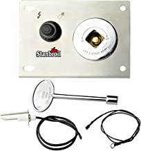 Stanbroil Fire Pit Gas Burner Spark Ignition Kit – Including Push Button Igniter Gas Shut-Off Valve with Key
