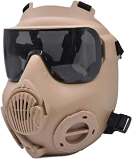 JFFCESTORE Tactical Airsoft Mask Full Face Costume Mask Safety Mask Game Mask for BB Gun CS Paintball Cosplay Costume Hall...
