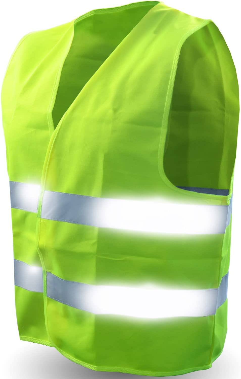 Safety Reflective Vest ULTRA Gorgeous HIGH YELLOW NEON Deluxe VISIBILITY BRIGHT