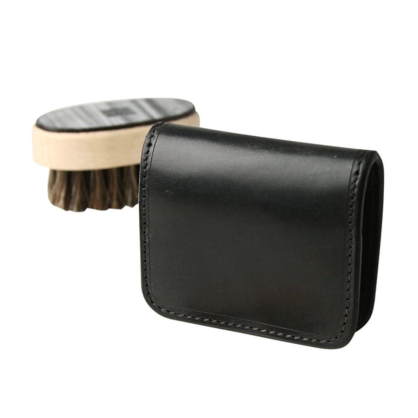 クルーズ留め金目の前の(ファイブウッズ) FIVE WOODS CASK キャスク ボックスケース 「BOX CASE」 ブラック 日本製 ブライドルレザー 本革 メンズ 小銭入れ 38062 wl3690