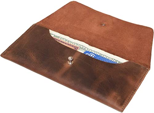 Leather Utility Pouch Wallet Accessories Cover Travel Gear Hand BagVintage Money Case Bag Card Holder Organizer Brown